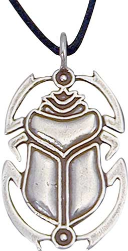 Sterling silver egyptian scarab pendant the most popular egyptian scarab pendant amulet for over 2000 years originating in egypt aloadofball Choice Image