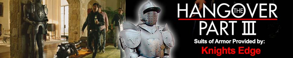 Knights Edge Suits of Armor Used in Hangover III Movie