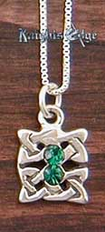 "Celtic Knot pendant is the original traditional symbol of Celtic art. 5/8"" wide. The Celtic pendant is made of Sterling silver."