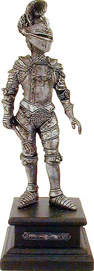 We offer a large selection of medieval knight figurines made from lead free pewter. The figures are perfect for medieval office decor or as giftware.