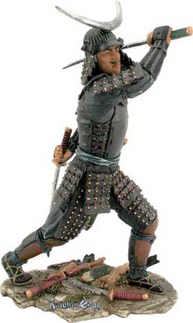 "Ren Samurai Statues - ""The Leader"" Skilled in the sword, troop leader or ""Samurai Ren"" also had to understand the psychology of war. He used these skills to excel on the battlefield. Each is finely cast in resin and strikingly hand detailed."