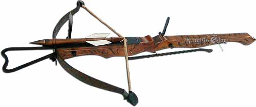 European giant medieval crossbows of the Middle Ages saved many a Castle from siege. Crossbows were brought to England by the Normans in 1066 and soon became an important weapon in history.
