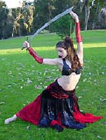 Belly Dancer with Scimitar Sword