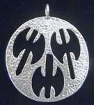Sterling Silver Triple Axe Medallion