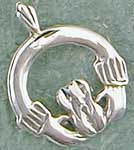 Sterling Silver Traditional Circle Claddaugh Charm