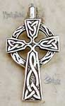 "The Celtic cross pendant is the ageless symbol of the Christian Faith beautifully executed in its early medieval form. 1-1/4""H."