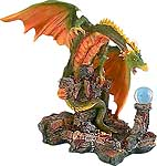 Treasure Dragon with Mystic Orb Figurine