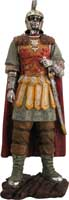 "Our large roman figurine is cast in cold resin and detailed and painted by hand. The Roman figures are 21"" in height."