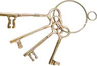 Brass Castle Keys - Home Decor