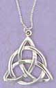 "Our charmed Celtic necklace is made of Sterling silver. The charm necklace / pendant is 1-1/8"" in width"