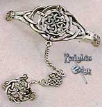 The Celtic Knot slave bracelet is crafted of lead-free pewter. The Celtic bracelet is adjustable - one size fits all.