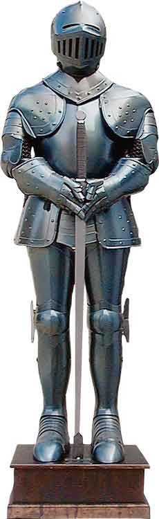 medieval suit of armor full size and wearable