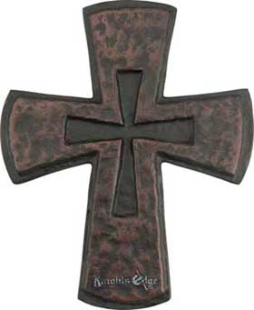 "This Crusaders cross is an ancient Christian symbol of Crusader Knights. Aluminum cast. Antique finish. 10""H"