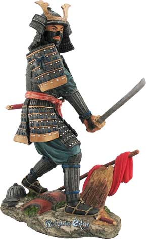 "Japanese Akira Samurai Figures - ""The Intellectual"" A keen and swift decision in battle could determine life and death. Steeped in Japanese history, the name ""Akira"" represents ""one of bright and intellectual mind"". This soulful samurai is skillfully cast in resin and finely hand detailed."