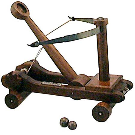 Medieval Catapult - Made of Wood in Italy