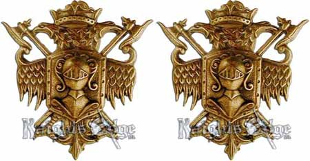 Coat of Arms Sword Hangers - Bronze Finish