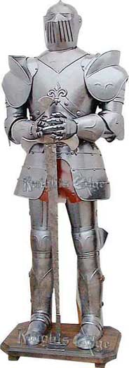 Fleur De Lis Suit of Armor Display