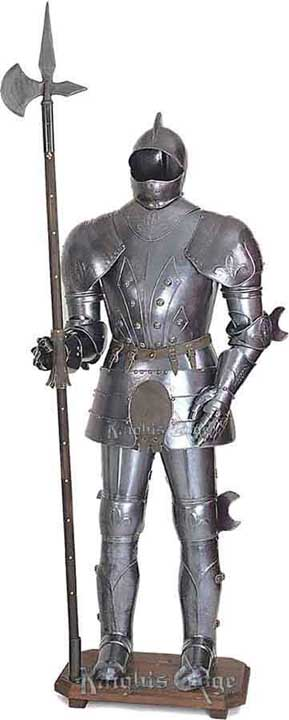 Closed Salet Suit of Armor Display